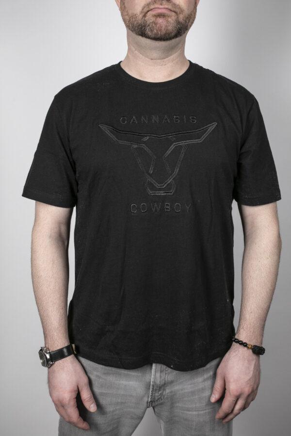 Cowboy Gear - Cannabis Cowboy Mens Tee Black